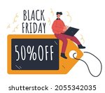 black friday coupon sale online ... | Shutterstock .eps vector #2055342035