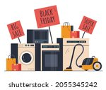 black friday home appliances... | Shutterstock .eps vector #2055345242