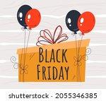 black friday gift box sale... | Shutterstock .eps vector #2055346385