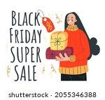 black friday gift box sale... | Shutterstock .eps vector #2055346388