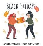 two people character quarrel... | Shutterstock .eps vector #2055349235