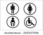 restroom symbol icon of man... | Shutterstock .eps vector #205537096