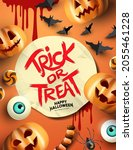 halloween party event layout... | Shutterstock .eps vector #2055461228