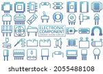 most used electronic icons set. ...