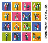 family people figures website...   Shutterstock .eps vector #205559605