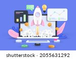 startup concept  software and...   Shutterstock .eps vector #2055631292