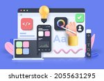 mobile application  software...   Shutterstock .eps vector #2055631295