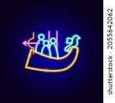 kyiv neon sign. vector... | Shutterstock .eps vector #2055642062