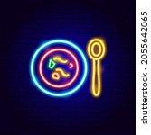 borsch neon sign. vector... | Shutterstock .eps vector #2055642065