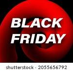 black friday sign over red... | Shutterstock .eps vector #2055656792