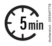 5 minute timer countdown icon...