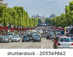 paris  france   july 14  2014 ... | Shutterstock . vector #205569862