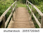 Wooden Bridge Over Abyss With...