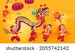 Chinese New Year Banner  People ...