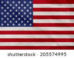 grunge usa flag  | Shutterstock . vector #205574995