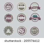 vector   set of retro vintage... | Shutterstock .eps vector #205576612