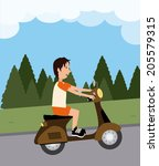 ride design over landscape... | Shutterstock .eps vector #205579315