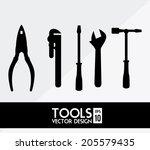 construction design over white... | Shutterstock .eps vector #205579435