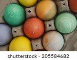 colored easter eggs | Shutterstock . vector #205584682