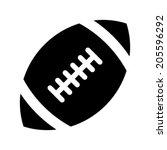 stylized american football logo ... | Shutterstock .eps vector #205596292