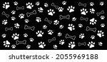 dog bone and footsteps. canine... | Shutterstock .eps vector #2055969188