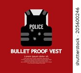 bullet proof vest vector...