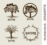 ecology design over beige... | Shutterstock .eps vector #205600978