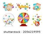 realistic 3d detailed casino...   Shutterstock .eps vector #2056219595
