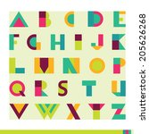 vector colorful alphabet set | Shutterstock .eps vector #205626268