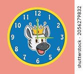 Sticker Animal Head With Crown...