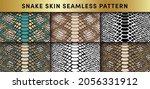trendy snake skin vector... | Shutterstock .eps vector #2056331912