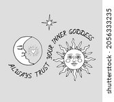 Vintage Mystic Kissing Sun And...