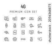premium pack of 4g line icons....