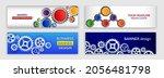 abstract web design banner.... | Shutterstock .eps vector #2056481798