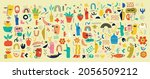 big set of different colored... | Shutterstock .eps vector #2056509212