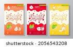 fruits and berries yogurt label ...   Shutterstock .eps vector #2056543208