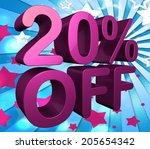 twenty percent off indicating...   Shutterstock . vector #205654342