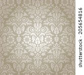 damask seamless floral pattern... | Shutterstock .eps vector #205654816