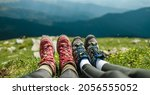 young couple camping in... | Shutterstock . vector #2056555052