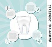 medical infographics. dental... | Shutterstock .eps vector #205655662
