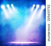 background in show. vector... | Shutterstock .eps vector #205655752
