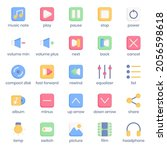 multimedia collection icon pack ...