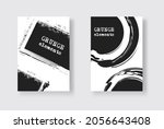 set of two grunge flyer... | Shutterstock .eps vector #2056643408