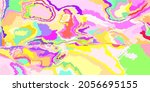pink rainbow detailed blue art...