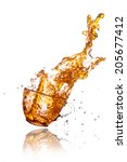 splashes out drink from glass... | Shutterstock . vector #205677412