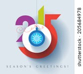 seasons greetings. happy new... | Shutterstock .eps vector #205684978