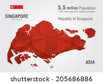 singapore world map with a...   Shutterstock .eps vector #205686886