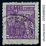 brazil   circa 1941  a stamp... | Shutterstock . vector #205688002