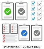 clipboard checklist flat design.... | Shutterstock . vector #2056951838