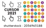 pixel cursors icons mouse hand... | Shutterstock . vector #2056965188